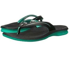 New Balance Womens Cush + Thong Sandal Black/Green Sz 6