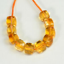 5.5MM-6MM Fine Golden Citrine Faceted Cube Beads (10)