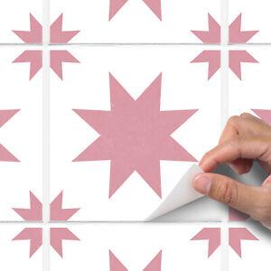 Pink Modern Star Tile Sticker Decal Bathroom Kitchen - T29