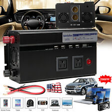Car Power Inverter 2000W/4000W Peak 12V DC To 110V AC Electronic Adapter Co