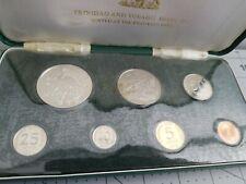 1971 Trinidad and Tobago Silver Proof Set Franklin Mint Issue Original Box & COA