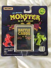 Matchbox 1990 Original Monsters in My Pocket  NIB Factory Sealed Battle Card Set