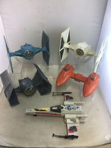 Lot 5 Vintage Star Wars Vehicles Darth TIE Fighter X-Wing Twin Pod Cloud Car