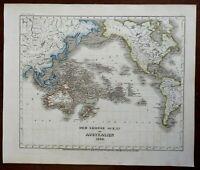 Pacific Ocean Australia New Zealand Polynesia Indonesia c 1850 Meyer map
