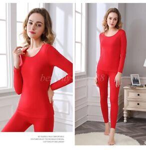 Women Thermal Underwear Set Soft Modal Long Johns Base Layer Top & Bottom XL-6XL