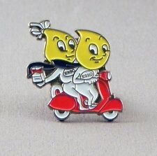 Vintage Style Esso Oil Drip Scooter Riders Metal Enamel Pin Badge Novelty PB1696
