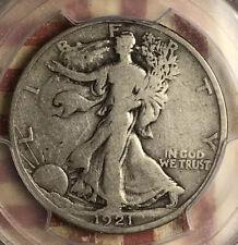 1921-D WALKING LIBERTY SILVER HALF DOLLAR PCGS VG08 CAC BEAUTIFUL COIN