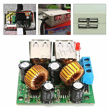 DC 12V 24V 40V to 5V 4 USB Car Charger Step Down Converter Power Supply Module