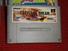 GAME/JEU SUPER FAMICOM NINTENDO NES JAPANESE Las Vegas Dream In Golden SHVC L6