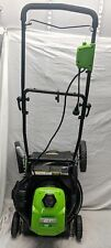 "GreenWorks 21"" Electric Lawnmower, LMA131, Missing Wheel, Frame Bent"
