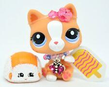 Littlest Pet Shop AUTHENTIC 2095 Orange White Striped Cat