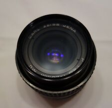 CARL ZEISS JENA 28mm LENS, wide angle, f2.8 MC, with camera lens Helios filter