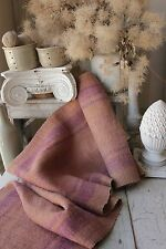 Antique dyed hemp Table Stair runner Natural hand woven 4.25 yards old textile