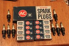 8 AC R45NS  ACNITER 4 GREEN RING SPARK PLUGS IN BOX NOS! 5613314