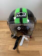 Nox Jet Scooter Casco/Tamaño Pequeño/Verde Y Negro