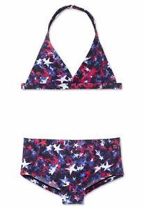 Gr Mädchen Bustier-Bikini Set AQUA LF40 128 140 152 164 SCHIESSER Schwimmanzug