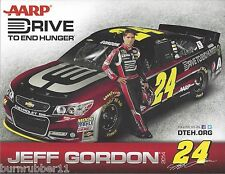 "2014 JEFF GORDON ""AARP DRIVE TO END HUNGER #24 NASCAR SPRINT CUP SERIES POSTCARD"