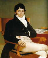 """Large Oil painting Ingres - Young man portrait Philbert Riviere canvas 36"""""""