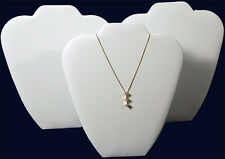 """3 White Velvet 9"""" Chain Pendant Necklace Counter-Top Jewelry Displays"""