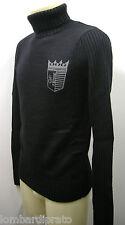 Maglia uomo dolcevita lupetto sweater man GF FERRE art.5F2870 T.S col.705 blu