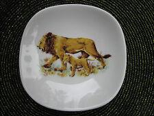 BAVARIA SCHUMANN ARZBERG GERMANY LIONESS & CUB PLATE/DISH GOLDEN CROWN E&R