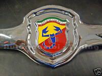 Mascherina con fregio ABARTH per FIAT 500 F L R in acciaio cromato + guarnizione