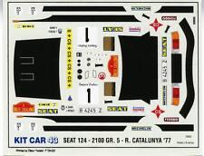 FIAT 124 GR.5  RALLYE CATALUNYA  1977 N°1 DECALS 1/43