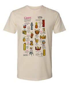 Retro Tiki Art Tee T Shirt Bar Mug Restaurant The Cannibal Room Cocktail Menu