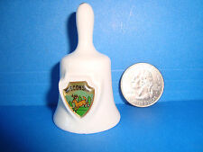 Collectible Miniature White Porcelain Ceramic 2 inch tall Wisconsin Bell