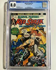 Marvel Feature 1 CGC 8.0 White Pages (Red Sonja #1 - Roy Thomas)