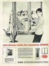 B- Publicité Advertising 1965 Menuiserie les Fenetres GIMM