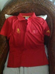 adida beijing 2008 china Red  polo shirt size XL youth