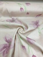 BEAUTIFUL LILAC FLORAL SUMMER PRINT CURTAIN FABRIC 12 METRES