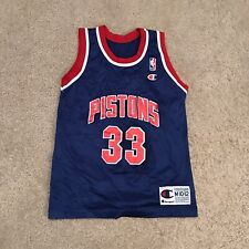 Rare Youth Vintage Champion Grant Hill Pistons Jersey Size M 10-12