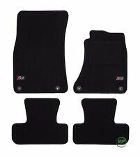 LOGO Fully Tailored black floor car mats fits Q5 mk1 2008-2015  4pcs set