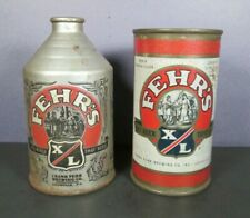 2 Vintage Fehr'S Xl Beer Cans - Frank Fehr Brewing Company Louisville Kentucky