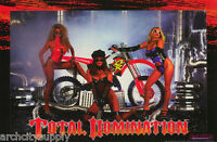 POSTER: MODEL WITH HONDA MOTORCYCLE -TOTAL DOM - RAD-N-BAD -SEXY FEMALE - LC11 V