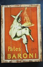 PATES BERONI; Industrial Wooden Vintage Rustic Retro Cafe Wall Art Print NEW