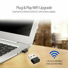 Mini USB WiFi Adapter 802.11AC Dongle 1200Mbps Dual Band Wifi Recei SD