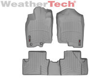 WeatherTech FloorLiner Mats for Honda Insight w/Ret - 10-14 - 1st/2nd Row Grey