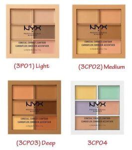 NYX Conceal Correct Contour ~ 3CP01 Light, 3CP02 Medium OR 3CP03 DEEP