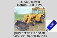 John Deere 410D 510D Backhoe Loader Service Repair Manual TM1513 On USB Drive
