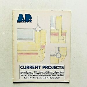 AD A.D. Architectural Design n. 51 1981 Current projects James Gowan Bob Venturi