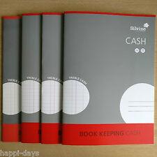 NEW - 4 x A4 BOOK KEEPING CASH BOOKS - Silvine Ledger Accounts - 4 x BOOKS