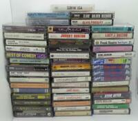 Collection of 50 Different Music Audio Cassette Albums (Lot 1101)