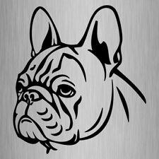 French Bulldog Head Sticker Frenchie Vinyl Car Decal 155mm x 140mm #3