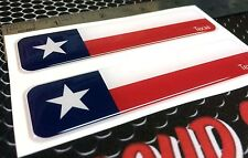 """Texas State Flag Proud Domed Decal Car LONE STAR Emblem 3D 4""""x1""""  Set 2 Sticker"""