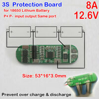 3S 8A 13V Lithium Battery Charger Protection Board 18650 PCB PMS Charging Module