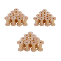 30x Wooden Empty Thread Spools Reels Bobbins for Sewing Ribbons 47mmx31mm