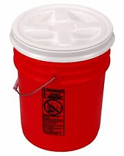 5 Gallon Orange Bucket with Gamma Seal Lid